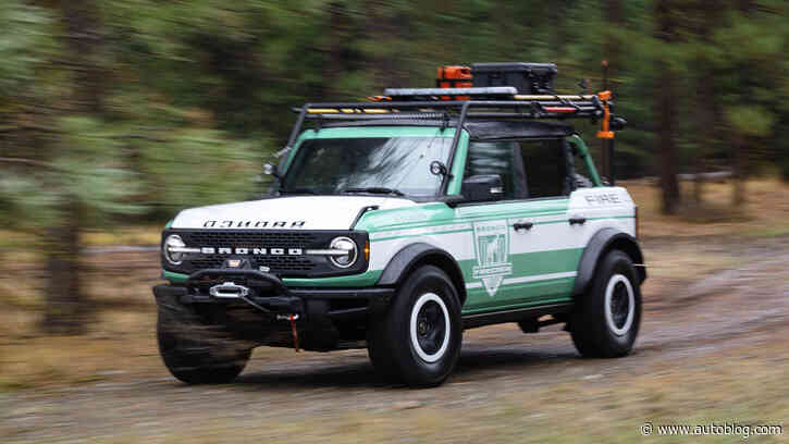 Ford Bronco Wildland Fire Rig Concept is a classy, functional tribute to Forest Service trucks