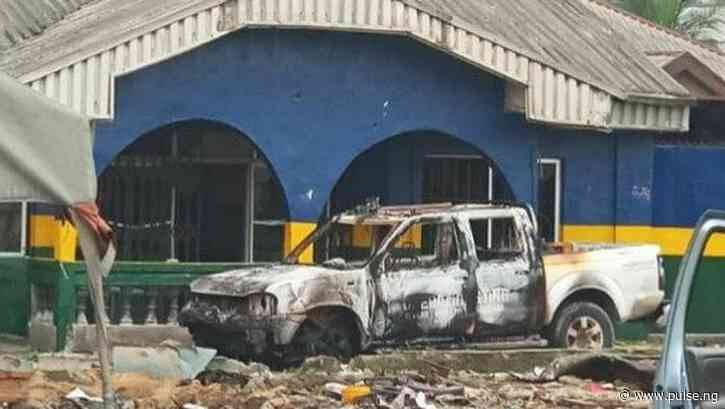 #EndSARS: Oyigbo Police Area Command burnt in Rivers