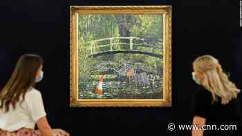 Banksy's 'Show me the Monet' painting sells for nearly $10 million