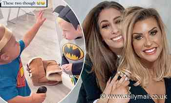 Stacey Solomon and Mrs Hinch dress baby sons Rex and Ronnie up in adorable superhero costumes