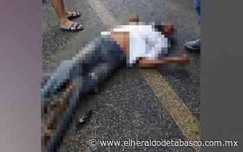 Hombre de la tercera edad es arrollado en Huimanguillo - El Heraldo de Tabasco