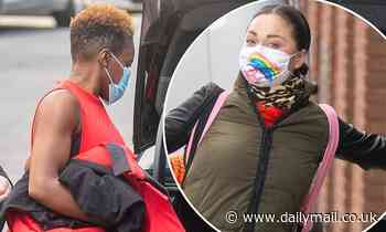 Strictly's first same-sex couple Nicola Adams and Katya Jones look in high spirits ahead of lives