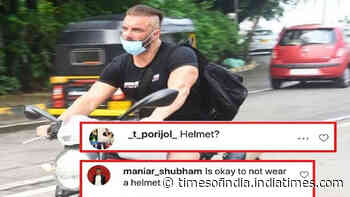 Sohail Khan gets trolled for riding a bike without wearing a helmet