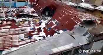 Granizada hizo colapsar techos y dañó centros de salud en Bambamarca   VIDEO - Diario Perú21