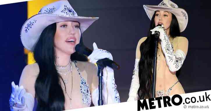Noah Cyrus does a Miley as she hits the stage in sheer nude bodysuit at CMT Music Awards