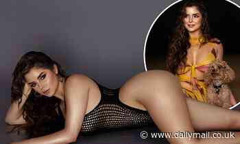 Demi Rose displays her hourglass curves in mesh bodysuitfor sizzling new photoshoot