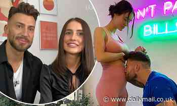 Jake Quickenden kisses pregnant girlfriend Sophie Church's bump