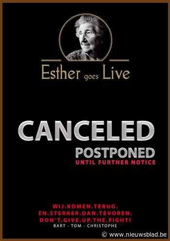 Esther Sessies worden uitgesteld door Corona