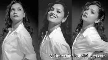 Ankita Lokhande brings back the retro vibe with her latest monochrome pictures, a fan writes 'OMG you look like Madhubala'