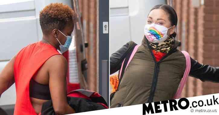 Strictly Come Dancing 2020: Katya Jones rocks rainbow face mask at rehearsals with Nicola Adams ahead of historic same-sex dance