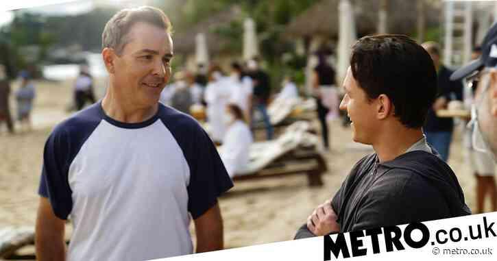 OG Nathan Drake Nolan North meets Tom Holland on Uncharted movie set