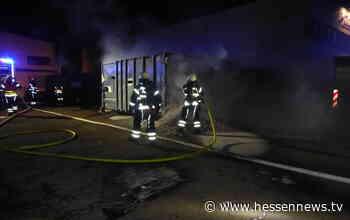 Container brannte auf Recyclinghof in Kassel - Hessennews TV