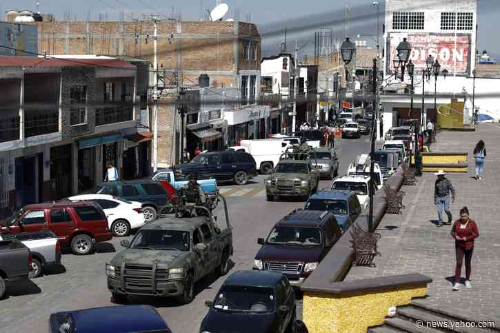 Cartel battles stun once-peaceful state in central Mexico