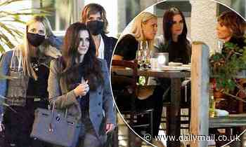 Kyle Richards catches up with  RHOBH costars Lisa Rinna and Dori Kemsley in Bel-Air