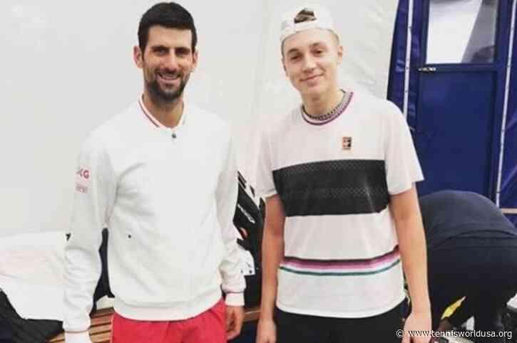 Hamad Medjedovic, 17, on Dominic Thiem comparison, practicing with Novak Djokovic
