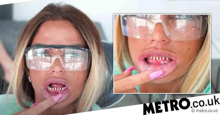 Katie Price 'horrified' as teeth fall out before getaway with boyfriend Carl Woods