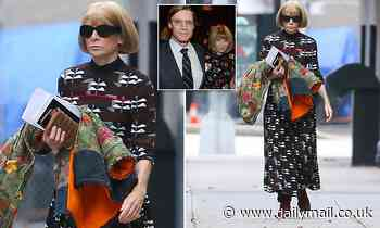 Anna Wintour cuts a glum figure as she steps out after 'splitting from partner Shelby Bryan'