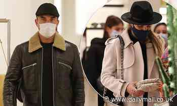 Robbie Williams steps out with stylish wife Ayda Field for a spot of shopping in Milan