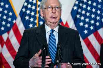 Mitch McConnell's hand is discoloured and bandaged – but he insists nothing is wrong