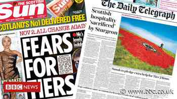 Scotland's papers: 'Fears for tiers' and hospitality 'sacrificed' - BBC News