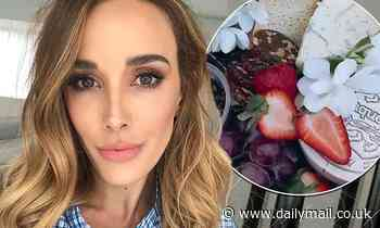 Rebecca Judd enjoys a lavish lunch while in lockdown in her $7.3million Melbourne mansion