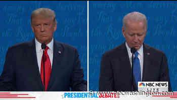 Trump and Biden Debate Handling of Coronavirus Pandemic - NBC4 Washington