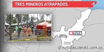 Continúa el rescate de tres trabajadores atrapados en mina de Tuta, Boyacá - Canal 1