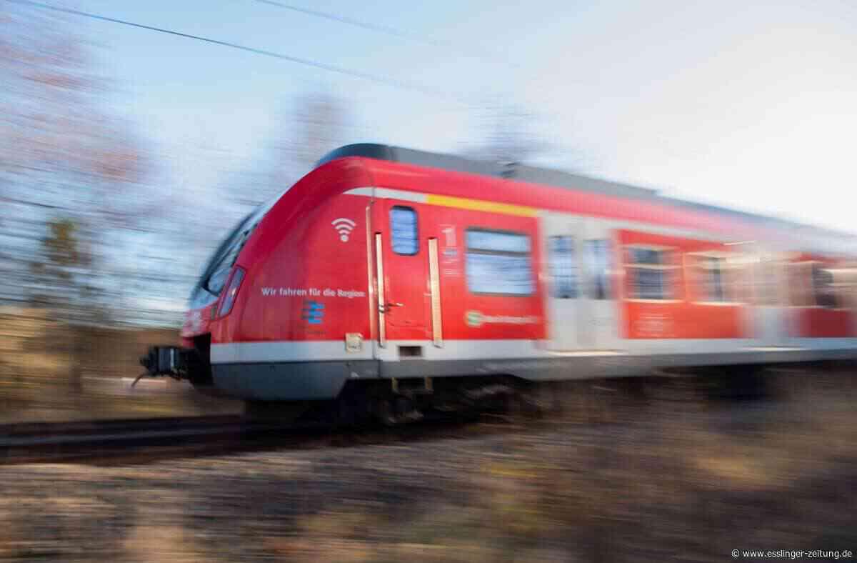 Plochingen - S-Bahn überfährt Sperrschild im Gleis - esslinger-zeitung.de