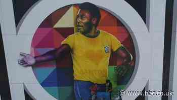 Pele: Brazil football icon's 80th birthday marked by street mural in Santos