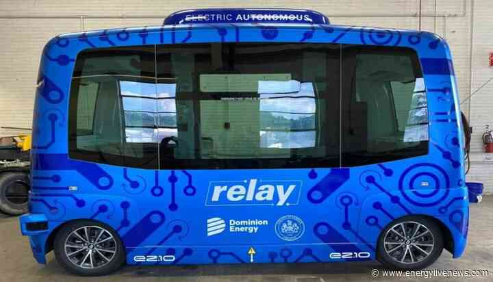 Self-driving electric shuttle bus hits the streets of Virginia