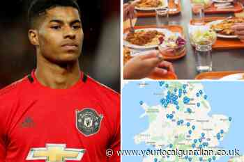 Map shows free school meals across UK after Marcus Rashford campaign