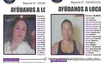 Activan Protocolo Alba por desaparición de dos mujeres en Acapulco y Cocula - El Sol de Acapulco