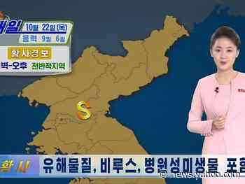 North Korea told citizens to stay inside, claiming (with no scientific basis) that a storm of yellow dust coming from China was carrying COVID-19
