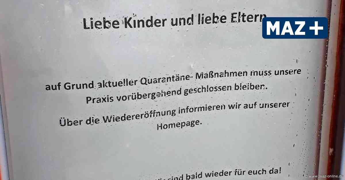 Kinderarztpraxis in Wittstock wegen Coronafall geschlossen - Märkische Allgemeine Zeitung