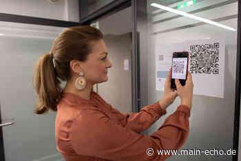 Im Landratsamt Aschaffenburg kann man sich jetzt per QR-Code anmelden - Main-Echo