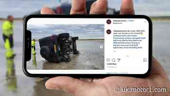 Son of a beach! Watch Mercedes-AMG G63 flip over several times