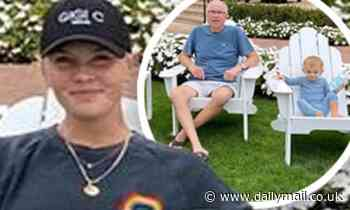 Amanda Kloots has morning coffee in garden with father and son Elvis