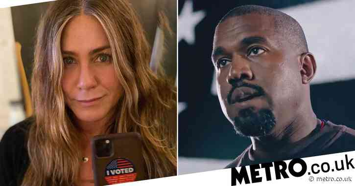 Jennifer Aniston says 'voting for Kanye West isn't funny' as she urges fans to be 'responsible'