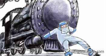 Bagley Cartoon: Train Wreck