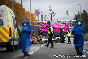 Dozen arrested and boats seized during pollution protest - Bury Times