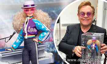 Elton John unveils his own Barbie commemorating 45 years since iconic Dodger Stadium performances