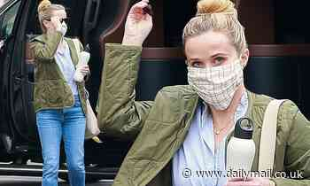Reese Witherspoon keeps warm in quilted jacket as she arrives at studio to get back to work in LA