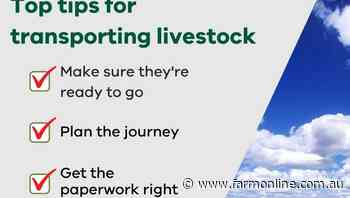 New resource to ensure you're correctly transporting livestock