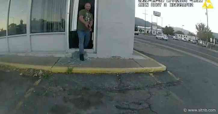 Body camera footage shows man pointing stapler at Ogden officer before shooting