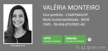 Justiça rejeita pedido do MP e aceita candidatura de Valéria Monteiro ao cargo de vice-prefeita de Campinas - G1