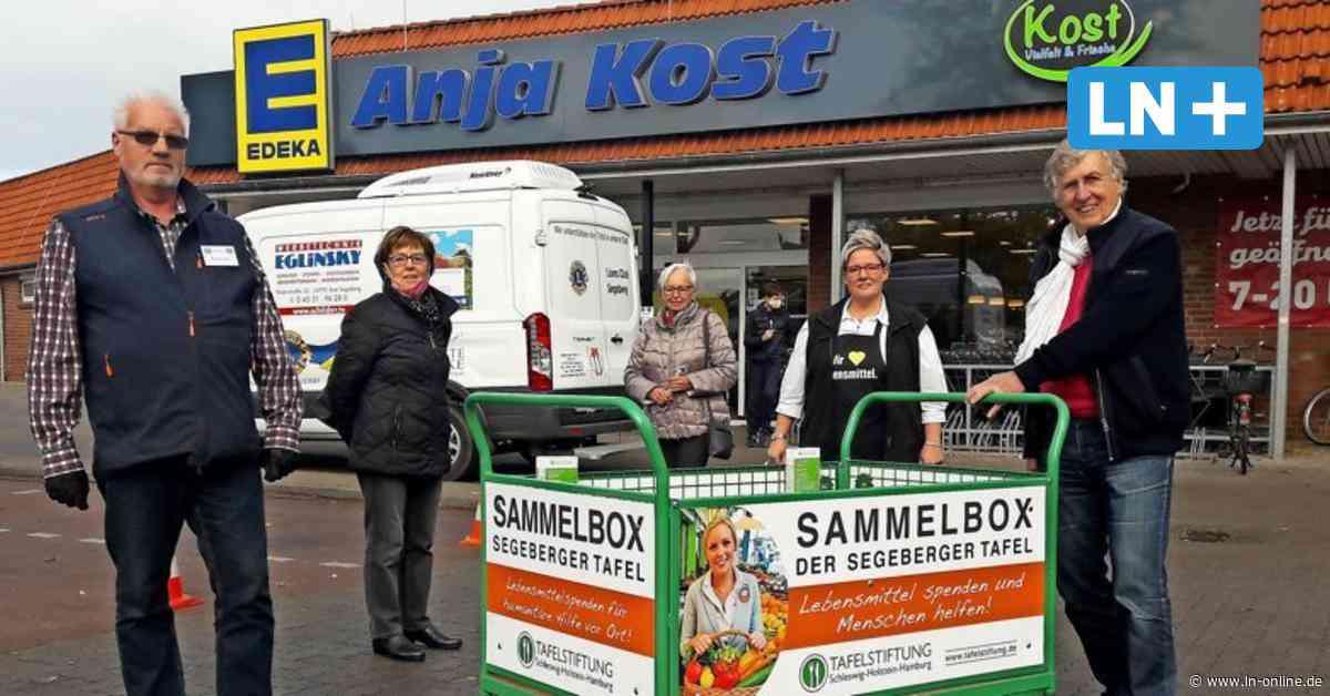 Sammelbox bei Edeka in Wahlstedt zur Unterstützung der Segeberger Tafel - Lübecker Nachrichten