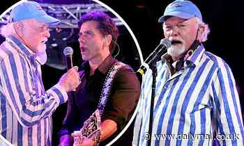The Beach Boys' Mike Love rocks out with John Stamos during Concerts In Your Car