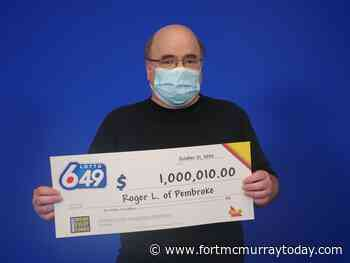 Pembroke man wins Lotto 6/49 Guaranteed $1 Million Prize - Fort McMurray Today