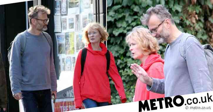 Outnumbered real life couple Hugh Dennis and Claire Skinner are going strong as they enjoy casual stroll
