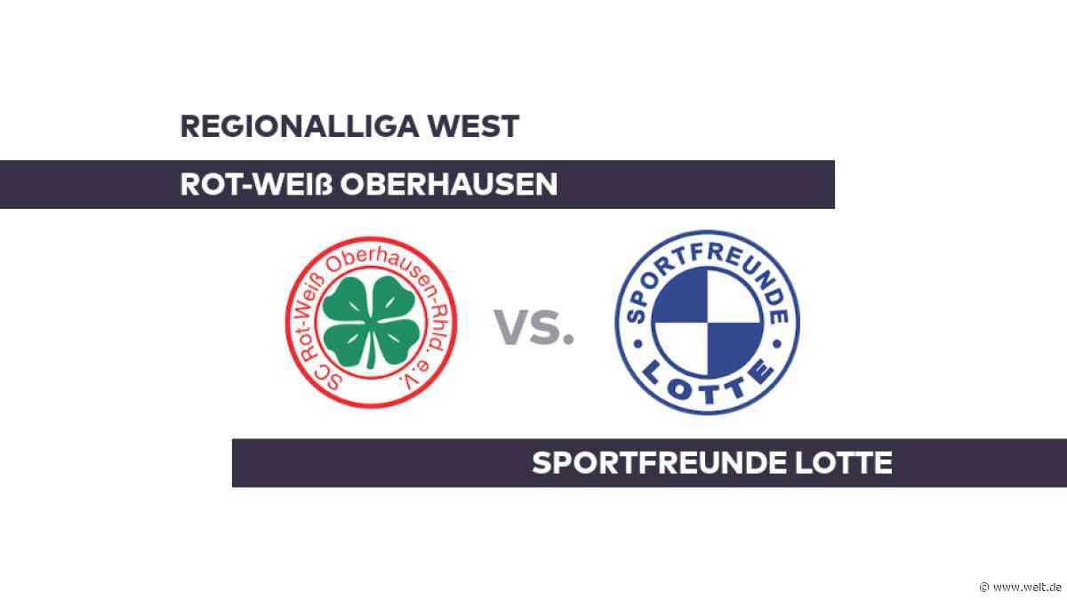 Rot-Weiß Oberhausen - Sportfreunde Lotte: Oberhausen rückt auf Platz 14 vor - Regionalliga West - DIE WELT